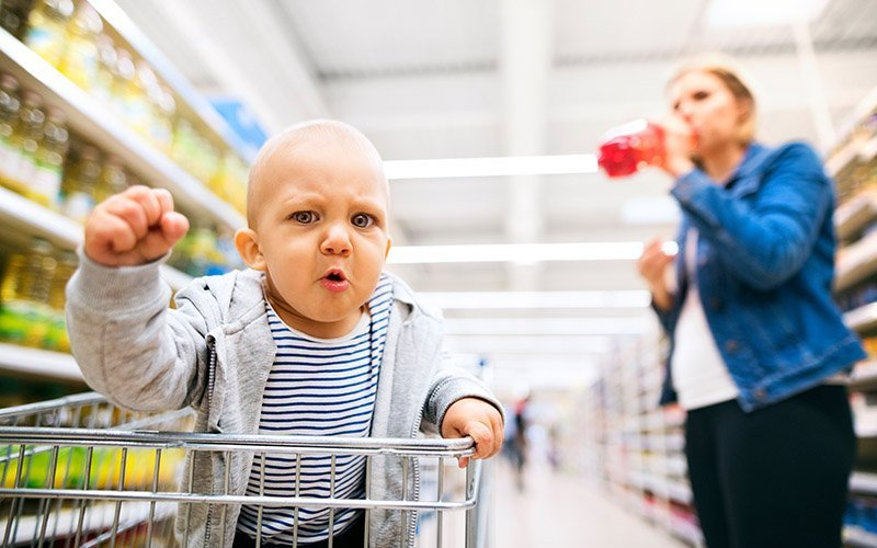 Har du også din søn – KONG GULEROD med på indkøb?