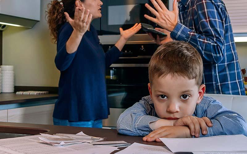 Børn og deres reaktion på skilsmisse